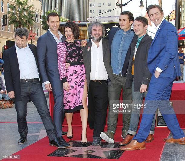 Andy Serkis Richard Armitage Evangeline Lilly Sir Peter Jackson Orlando Bloom Elijah Wood and Lee Pace attend the ceremony honoring Sir Peter Jackson...