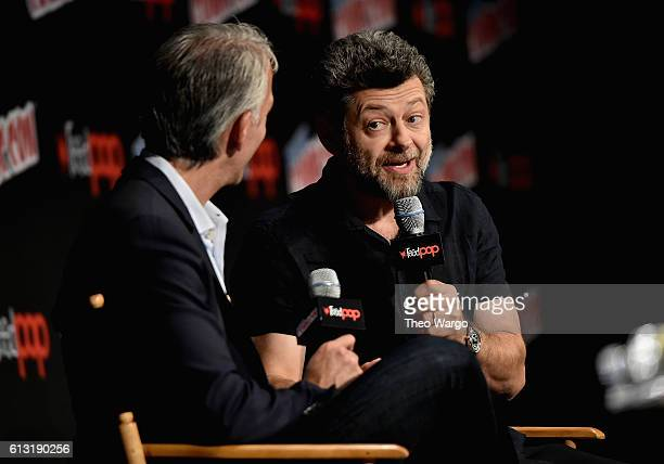Andy Serkis speaks at the War For The Planet Of The Apes Panel at Jacob Javits Center on October 7 2016 in New York City