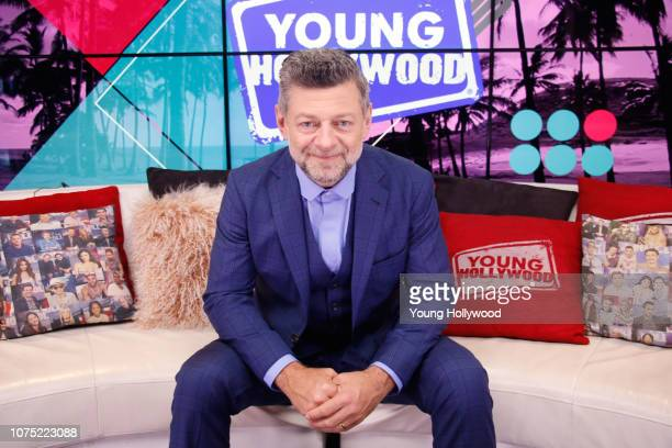 November 30: Andy Serkis visits the Young Hollywood Studio on November 30, 2018 in Los Angeles, California.