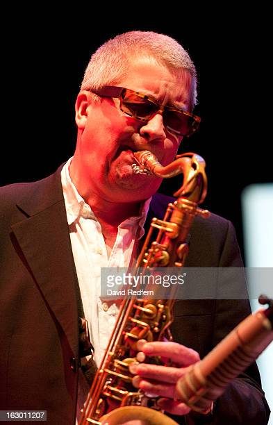 Andy Sheppard performs on stage at Bristol Jazz and Blues Festival on March 3 2013 in Bristol England