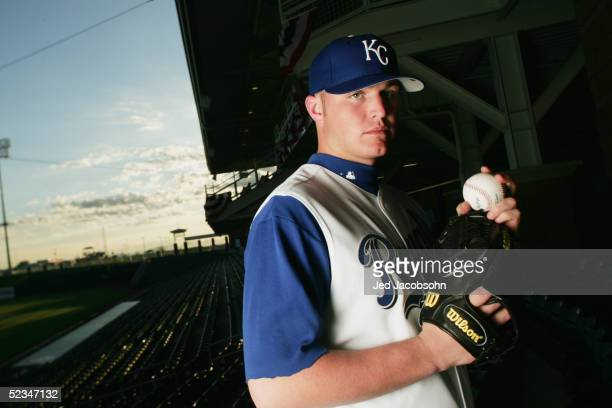 Andy Sisco of the Kansas City Royals poses for a portrait during Spring Training Photo Day at Surprise Stadium on February 26 2005 in Surprise Arizona