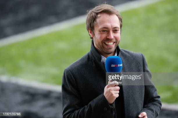 Andy Sixsmith of Sixsmith TV pictured before the BETFRED Championship match between Newcastle Thunder and Widnes Vikings at Kingston Park, Newcastle,...