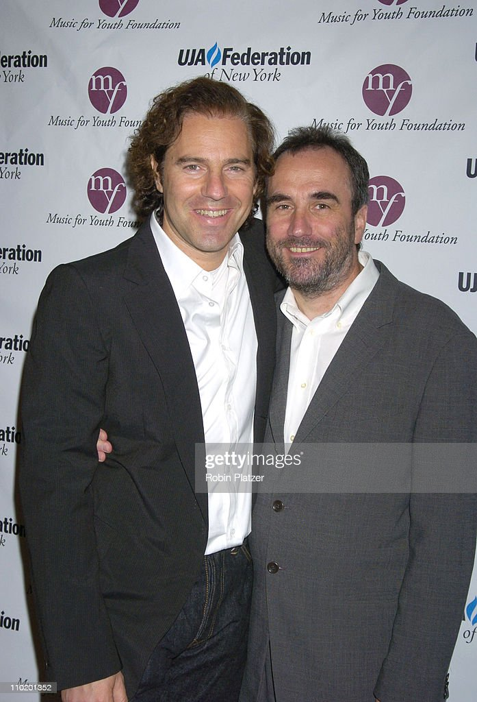 Andy Slater and David Munns during UJA Luncheon Honoring David Munns and Rob Glaser at The Pierre Hotel in New York City, New York, United States.