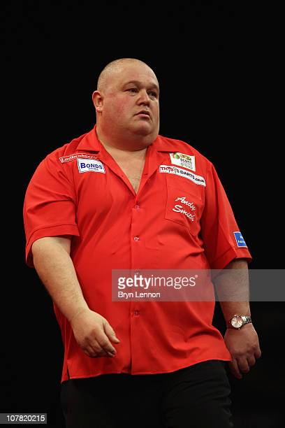 Andy Smith of England looks on during his game against Gary Anderson of Scotland during day 12 in the 2011 Ladbrokescom World Darts Championship at...