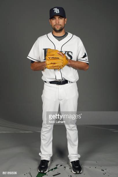 Andy Sonnanstine of the Tampa Bay Rays poses during Photo Day on February 20, 2009 at the Charlotte County Sports Park in Port Charlotte, Florida.