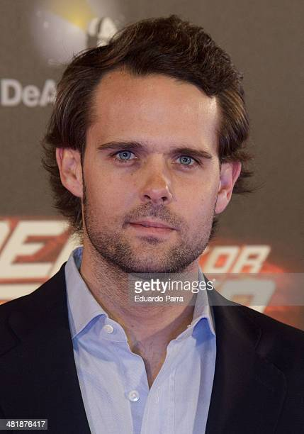 Andy Soucek attends 'Need for speed' premiere photocall at Callao cinema on April 1 2014 in Madrid Spain