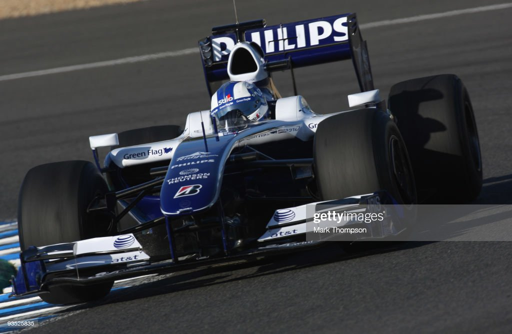 Andy Soucek of Spain and team Williams in action at the Circuito De Jerez on December 1, 2009 in Jerez de la Frontera, Spain.
