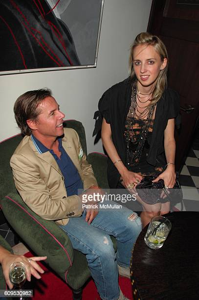 Andy Spade and Hope Atherton attend 'GIANNI AND DONATELLA' by SANTE D'ORAZIO cocktail at Gramercy Park Hotel Rooftop NYC on September 8 2007