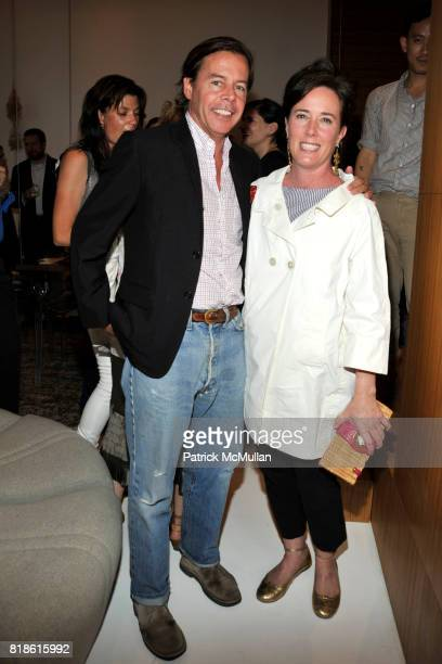 Andy Spade and Kate Spade attend EDIBLE SCHOOLYARD NEW YORK Summer Solstice Dinner Hosted by LELA ROSE and ALICE WATERS at Home of Lela Rose and...
