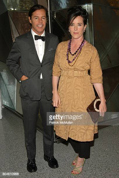 Andy Spade and Kate Spade attend SWAROVSKI Private Dinner to Honor the 2006 CFDA Nominees at Top of the Rock on June 4 2006 in New York City