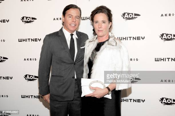 Andy Spade and Kate Spade attend WHITNEY MUSEUM of American Art 2010 WHITNEY Gala at The Whitney Museum on October 26 2010 in New York City