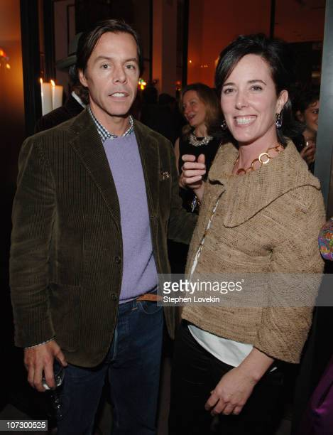 Andy Spade and Kate Spade during Kate Spade/Vanity Fair Charitable Holiday Celebration and Slim Aarons Book Launch at Kate Spade Store SoHo in New...