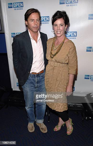 Andy Spade and Kate Spade during 'Making a Name For Yourself' An 'OPEN' Forum Show Taping at Nokia Theateer in New York City New York United States