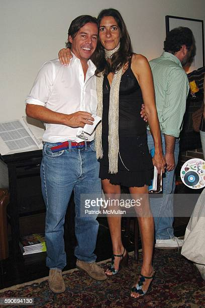 Andy Spade and Oberon Sinclair attend An Evening of Short Films hosted by Jack Spade at The National Arts Club on July 28 2005 in New York City
