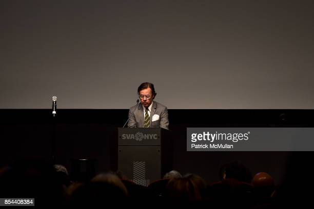 Andy Spade attends the Glenn O'Brien Memorial Celebration at SVA Theatre on September 10 2017 in New York City