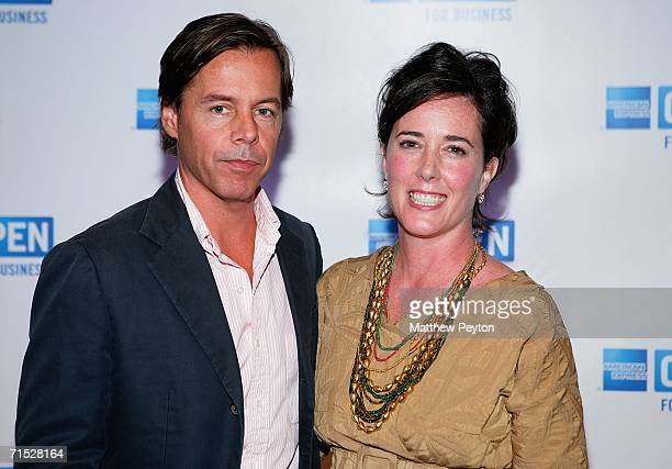 Andy Spade CEO and Creative Director of Kate Spade and designer Kate Spade attend OPEN from American Express' Making a Name for Yourself at Nokia...
