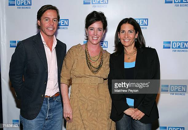 Andy Spade CEO and Creative Director of Kate Spade designer Kate Spade and Bobbi Brown founder and CEO of Bobbi Brown Cosmetics Worldwide attend OPEN...