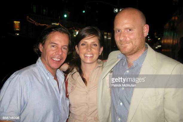 Andy Spade Crystal Railsback and Anthony Sperduti attend Civetta Restaurant at Civetta Restaurant on June 29 2009 in New York City