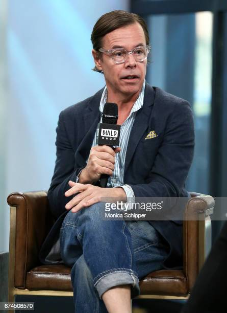 Andy Spade speaks on stage at Build Series Presents Kate Spade and Andy Spade Discussing Their Latest Project Frances Valentine at Build Studio on...