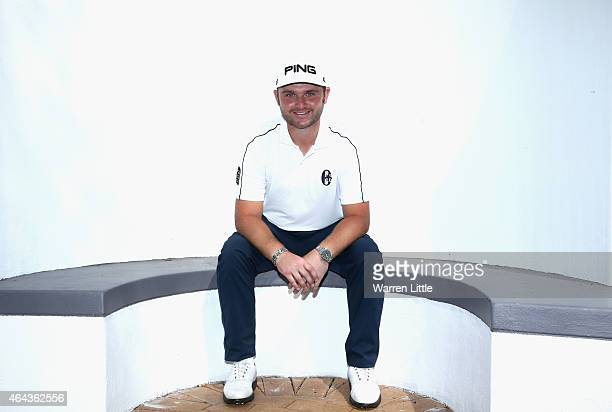 Andy Sullivan of England poses for a picture ahead of the Joburg Open at Royal Johannesburg and Kensington Golf Club on February 25 2015 in...