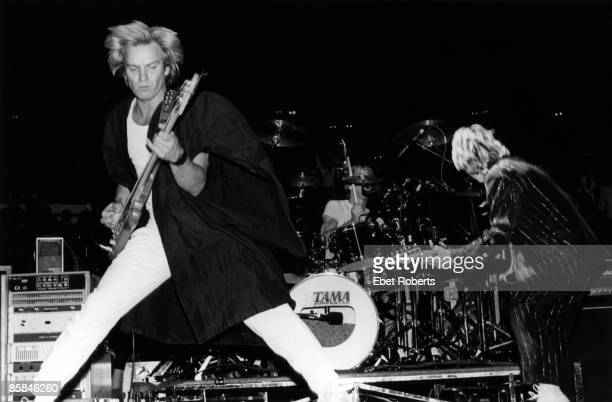 GARDEN Photo of Andy SUMMERS and POLICE and STING Sting and Andy Summers performing live onstage
