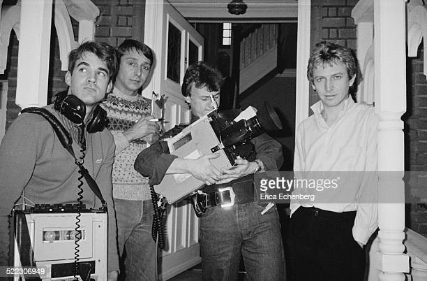Andy Summers of The Police at home Putney London 1985