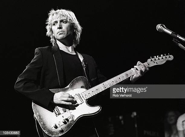 Andy Summers of The Police performs on stage at Ahoy on 10th April 1980 in Rotterdam Netherlands He plays a Fender Telecaster guitar