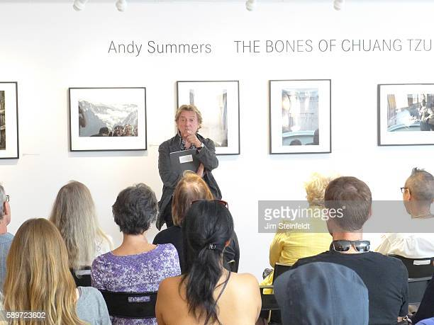 Andy Summers photographer and guitarist for the rock band The Police exhibits his photographs and gives a lecture at the Leica Gallery in Los Angeles...