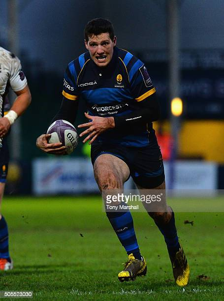 Andy Symons of Worcester Warriors during the European Rugby Challenge Cup match between Worcester Warriors and Zebre Rugby at Sixways Stadium on...