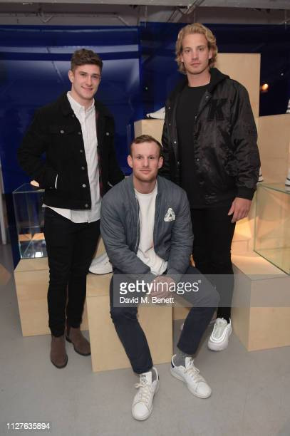 Andy Symons Rory Hutchinsons and Harry Mallinder attend Church's Footwear CH873 Sneaker Launch on February 05 2019 in London England