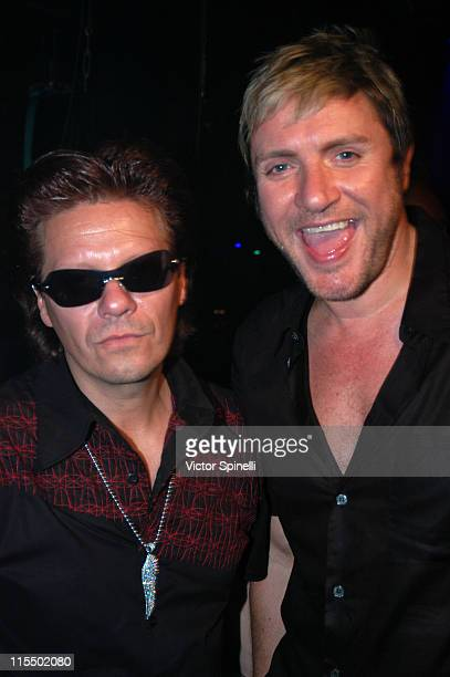 Andy Taylor and Simon Le Bon of Duran Duran Tonight was the first public airing of Duran Durans new single 'Sunrise' Inspired by Manumission