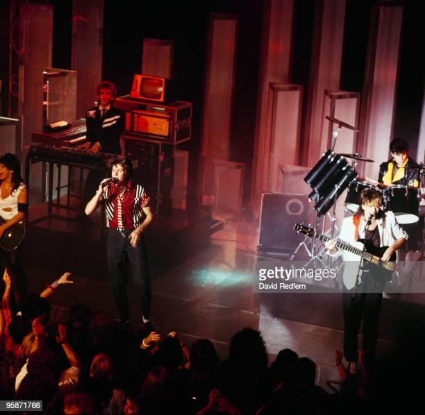 Andy Taylor Nick Rhodes Simon Le Bon John Taylor and Roger Taylor of Duran Duran perform on stage at the Montreux Rock Festival held in Montreux...