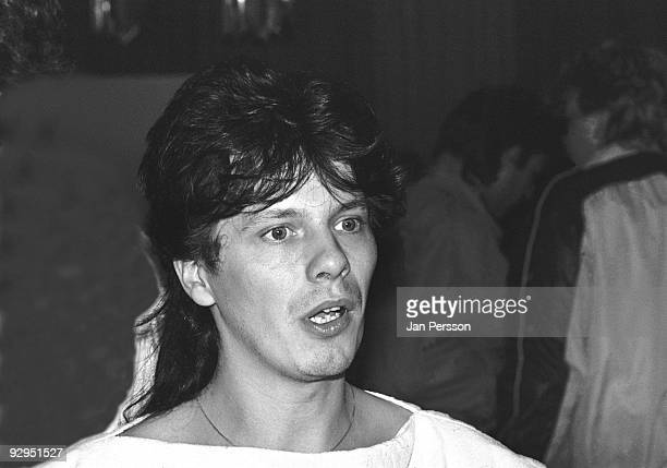 Andy Taylor of Duran Duran at a press conference in 1984 in Copenhagen Denmark