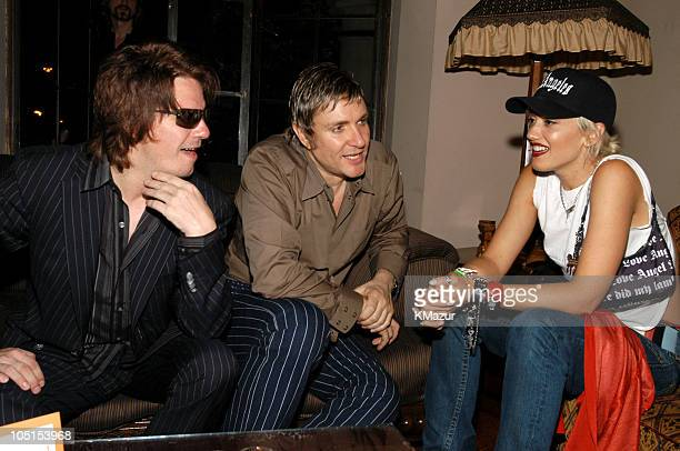 Andy Taylor Simon Le Bon and Gwen Stefani at the After Party for the Duran Duran Show at The Roxy presented by DKNY Jeans and The FADER