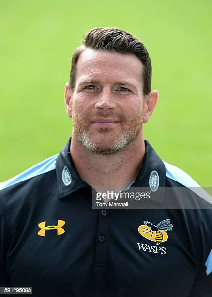 Andy Titterrell, Assistant Forwards and Skills Coach poses for a portrait during the Wasps squad photocall for the 2016-2017 Aviva Premiership Rugby...