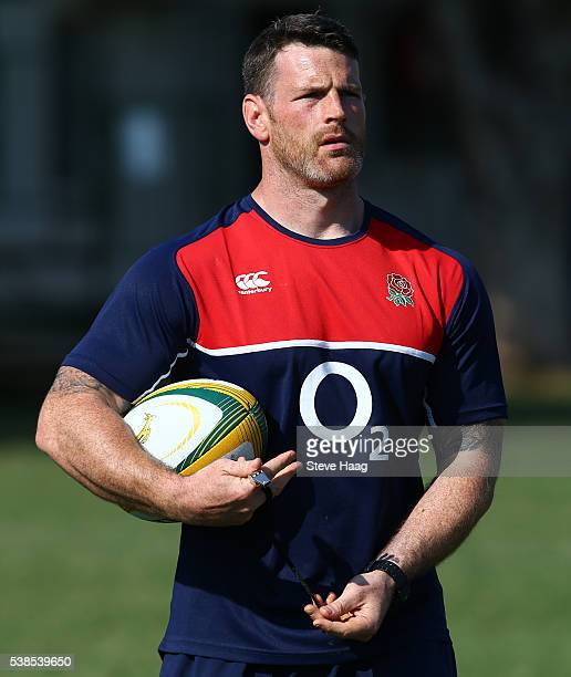 Andy Titterrell coach of England Saxons during a training session on June 6, 2016 in Durban, South Africa.
