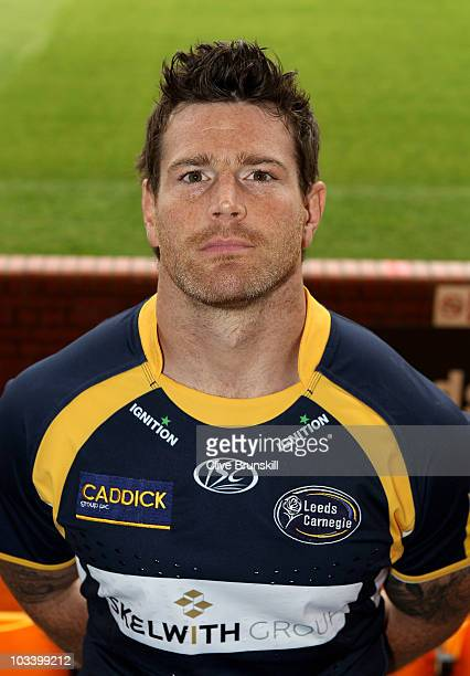 Andy Titterrell during the Leeds Carnegie Photocall at Headingley on August 13, 2010 in Leeds, England.