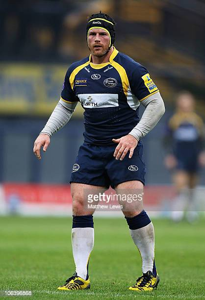 Andy Titterrell of Leeds Carnegie in action during the AVIVA Premiership match between Leeds Carnegie and London Wasps at Headingley Carnegie Stadium...