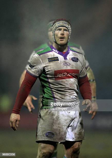 Andy Titterrell of Leeds looks on during the Guinness Premiership match between Sale Sharks and Leeds Carnegie at Edgeley Park on February 19, 2010...