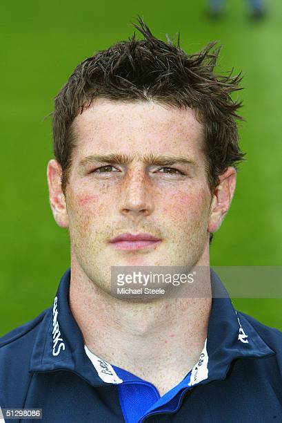 Andy Titterrell pictured during the Sale Sharks squad photocall at Edgeley Park on August 03, 2004 in Stockport, England.