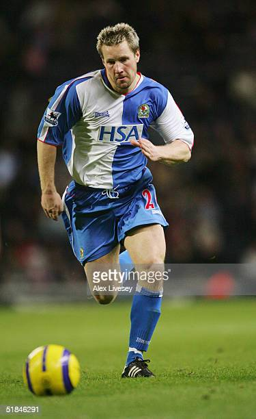 Andy Todd of Blackburn Rovers in action during the Barclays Premiership match between Blackburn Rovers and Tottenham Hotspur at Ewood Park on...