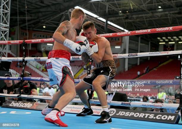 Andy Townend VS Jon Kays 12 x 3 mins vacant Commonwealth SuperFeatherweight Championship at Bramall Lane Sheffield