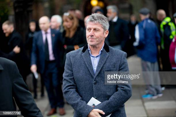 Andy Townsend attends the funeral of Sir Doug Ellis at the Church of SS Peter & Paul on November 09, 2018 in Aston, Birmingham, England.