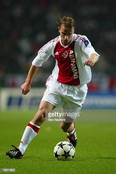 Andy Van der Meyde of Ajax in action during the UEFA Champions League First Phase Group D match between Ajax and Inter Milan on November 12 2002...