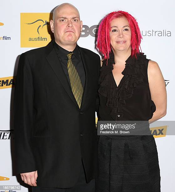 Andy Wachowski and Lana Wachowski attend the Australians in Film Benefit Dinner at the at Intercontinental Hotel on October 24 2013 in Beverly Hills...