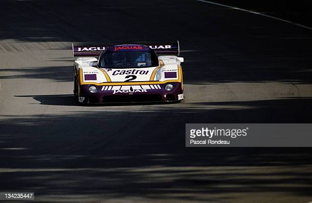 Andy Wallace of Great Britain drives the Silk Cut Jaguar XJR-9 during the FIA World Sportscar Prototype Championship 1000 kms of Brands Hatch on 23rd...