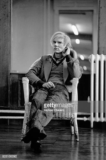 Andy Warhol American artist and leading figure in the visual art movement known as pop art in his New York studio