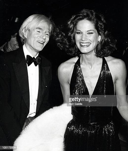 Andy Warhol and Barbara Allen during Diana Vreeland's Opening At The MOMA at Metropolitan Museum of Art in New York City, NY, United States.