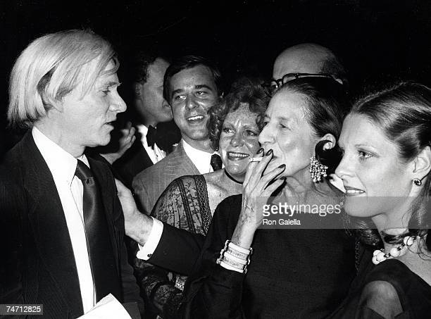 Andy Warhol and Diana Vreeland at the Museum of American Folk Art in New York City New York