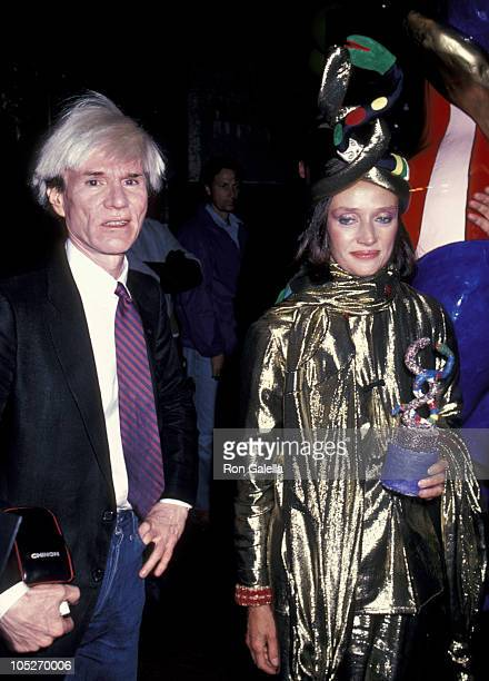 Andy Warhol and Niki De St Phalle during Valentino Fashion Show at Metropolitan Museum of Art in New York City New York United States